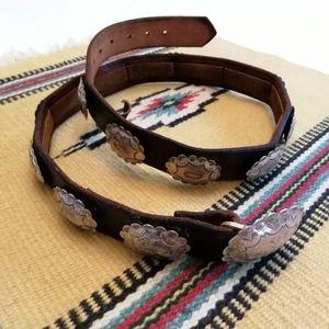 Vintage Navajo Silver Concho Belt, 1950s/60s